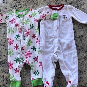 Other - Two Christmas onesies/sleepers